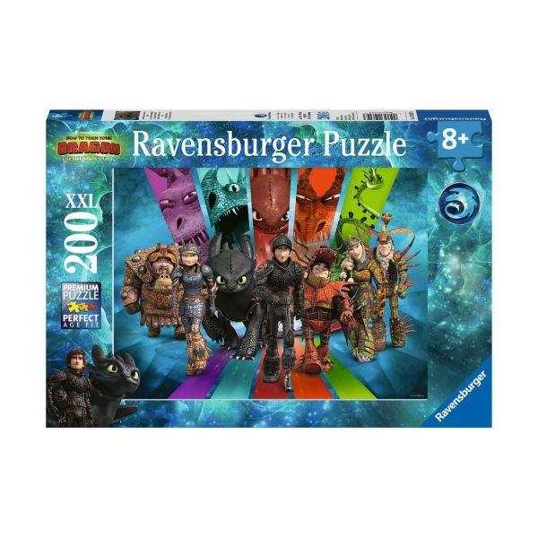 RAVENSBURGER 12629 - Puzzle - Die Drachenreiter von Berk, 200 Teile XXL