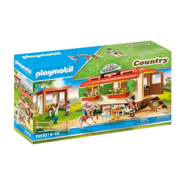 PLAYMOBIL 70510 - Country Ponyhof - Ponycamp-Übernachtungswagen