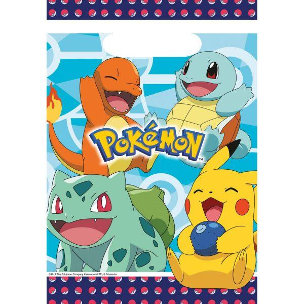 AMSCAN 9904824 - Pokemon - Partytüten, 8 St