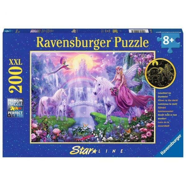RAVENSBURGER 12903 - Puzzle - Magische Einhornnacht, 200 Teile