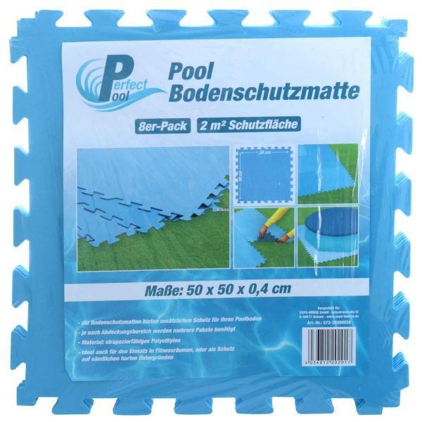 Perfect Pool 20200020 - Poolzubehör - Bodenschutzfliesen, 8 Stück, 50x50 cm