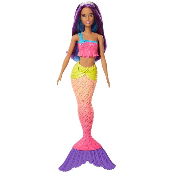 MATTEL FJC90 - Barbie Dreamtopia - Regenbogen-Meerjungfrau, lila Haare