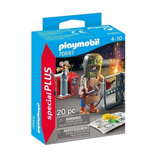 PLAYMOBIL 70597 - Special Plus - Schweißer mit Ausrüstung