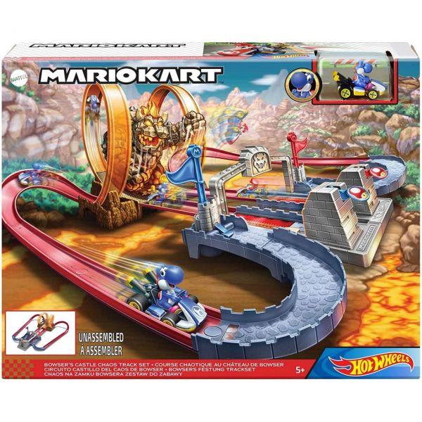 MATTEL GNM22 - Hot Wheels - Mario Kart Track-Set Bahn Bowsers Festung