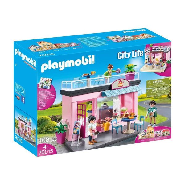 PLAYMOBIL 70015 - City Life Meine kleine Stadt - Mein Lieblingscafé