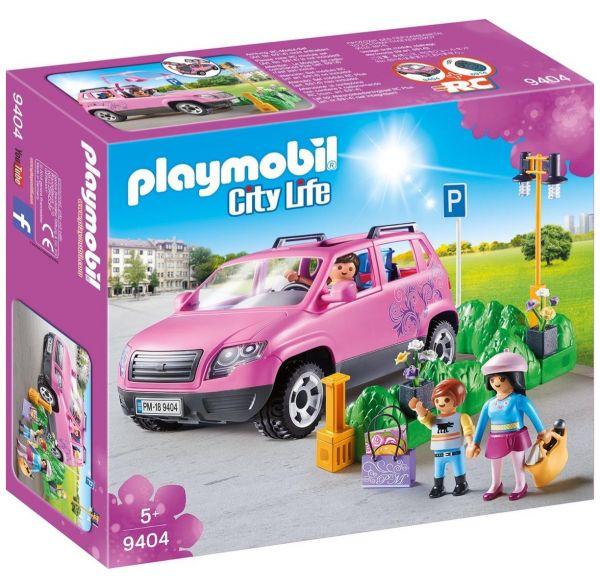 PLAYMOBIL 9404 - City Life Einkaufen - Familien-Pkw mit Parkbucht