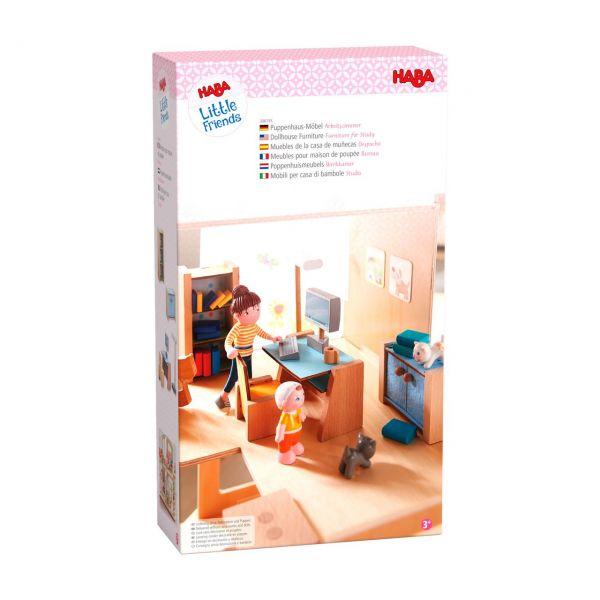 HABA 306155 - Little Friends - Puppenhaus-Möbel Arbeitszimmer