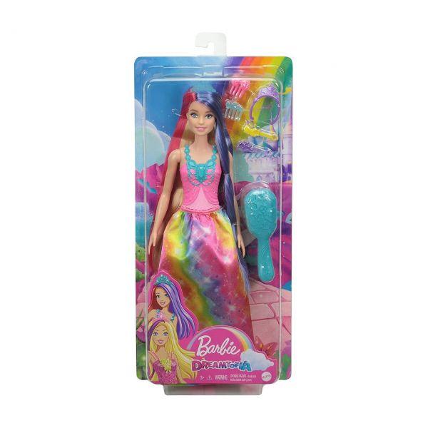 MATTEL GTF38 - Barbie Dreamtopia - Regenbogenzauber Prinzessin Puppe mit langem Haar