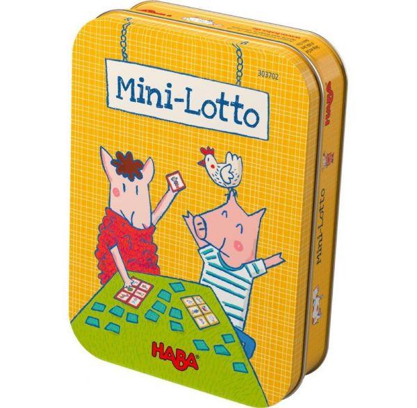 HABA 303702 - Mitbringspiel in Metalldose - Mini Lotto