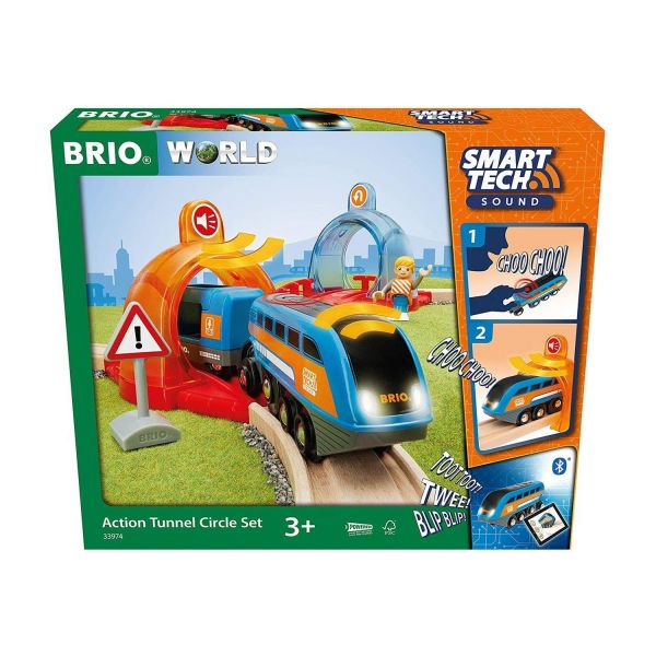 BRIO 33974 - Smart Tech - Sound Action Tunnel Circle Set