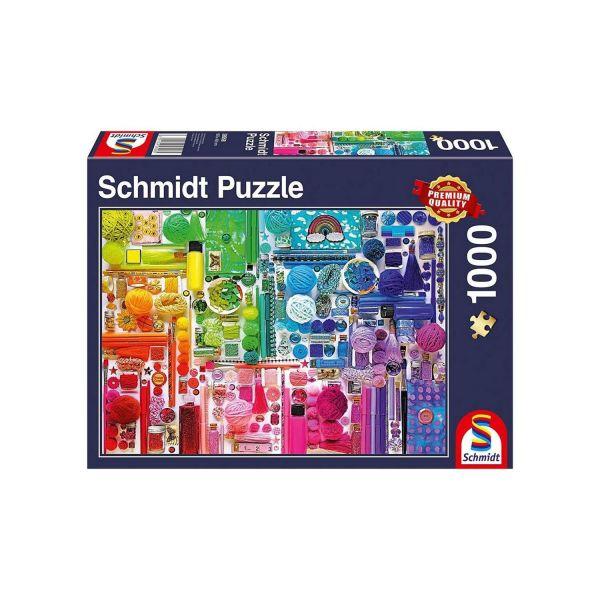 SCHMIDT 58958 - Puzzle - Regenbogenfarben, 1000 Teile
