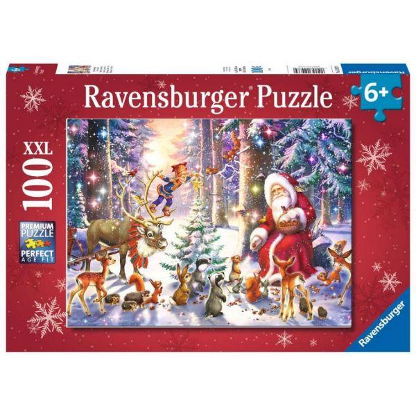 RAVENSBURGER 12937 - Puzzle - Waldweihnacht, 100 Teile