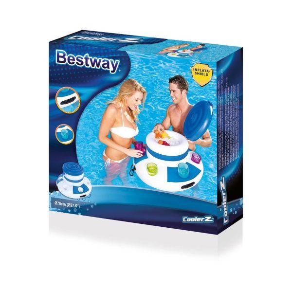 BESTWAY 43117 – Getränkekühler Floating Cooler, 71 cm
