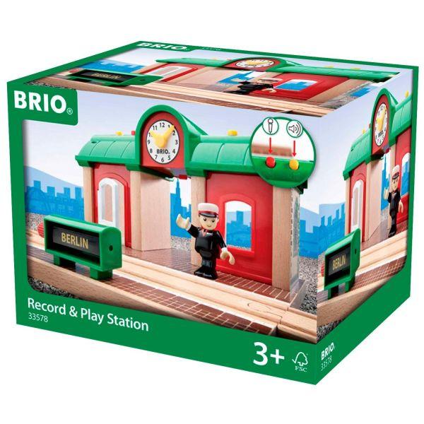 BRIO 33578 - Bahn - Sprechender Bahnhof