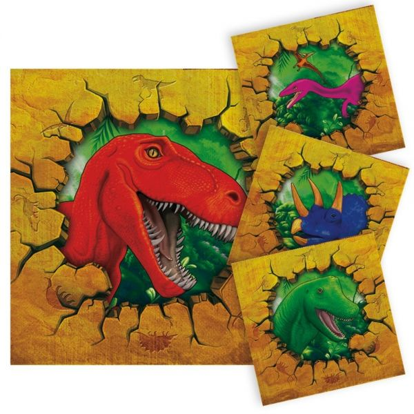 FOLAT 61852 - Geburtstag & Party - Dino Party Servietten - 16 Stk.