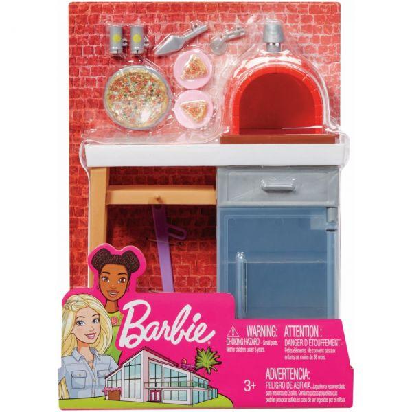 MATTEL FXG39 - Barbie - Möbel-Spielset Outdoor mit Steinpizzaofen
