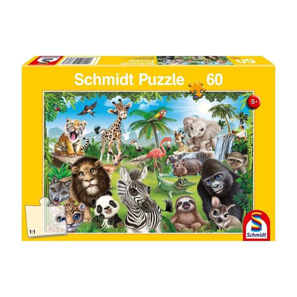SCHMIDT 56378 - Puzzle - Animal Club, Wildtiere, 60 Teile