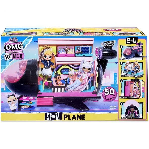 MGA 571339E7C - L.O.L. Surprise REMIX - 4-in-1 Plane, Flugzeug
