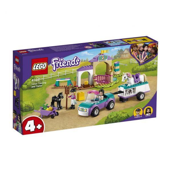 LEGO 41441 - Friends - Trainingskoppel und Pferdeanhänger