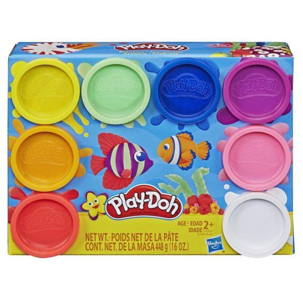 HASBRO E5062 - Play-Doh - Regenbogenfarben, 8-er Pack