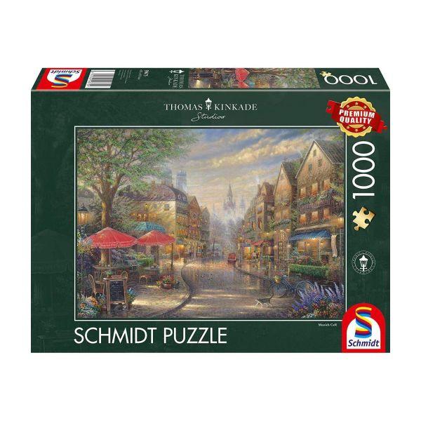 SCHMIDT 59675 - Puzzle - Thomas Kinkade, Cafe in München, 1000 Teile