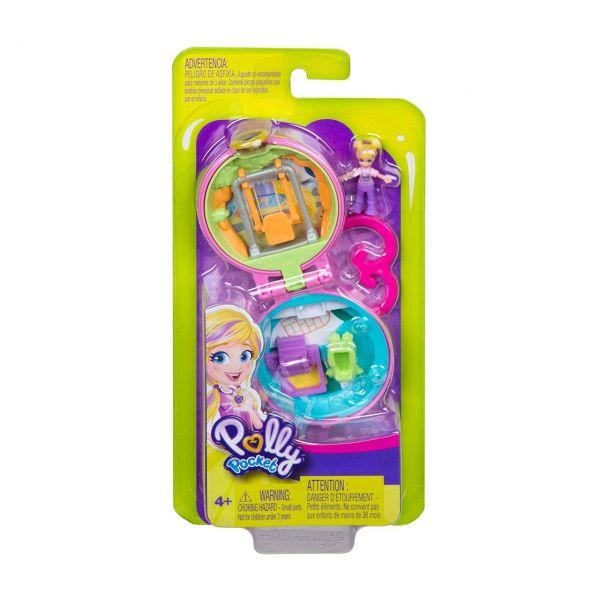 MATTEL GKJ42 - Polly Pocket - Mini-Schatulle Pollys Spielplatz
