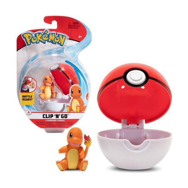 BOTI 37249 - Pokémon Figuren - Clip 'n' Go™ Poké Ball und Glumanda