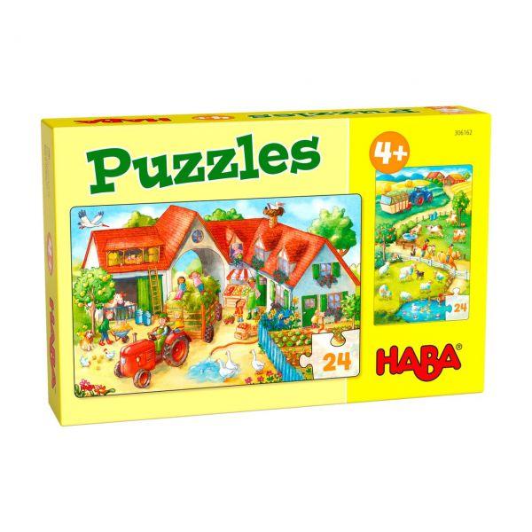 HABA 306162 - Puzzle - Bauernhof, 2x24 Teile