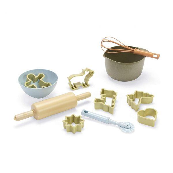 DANTOY 5602 - Bio Sandspielzeug - Kinder-Back-Set, 11-teilig