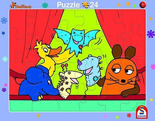 SCHMIDT 56793 - Rahmenpuzzle - Die Sendung mit der Maus, 2er Set