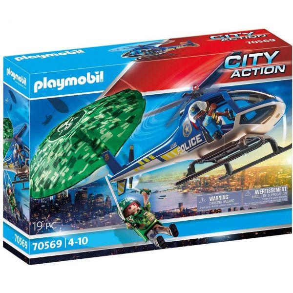 PLAYMOBIL 70569 - City Action - Polizei-Hubschrauber - Fallschirm-Verfolgung