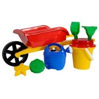 SIMBA 107136235 - Sandspielzeug - Schubkarre Set, 8-tlg, zufällige Auswahl